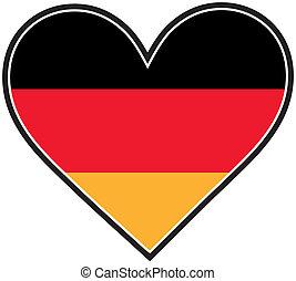 German Heart Flag - A German flag shaped like a heart