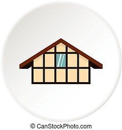 German house icon circle