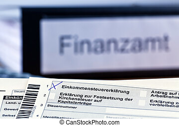 german income tax return - a german tax return for income...