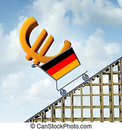 German Inflation - German inflation rise in a booming...