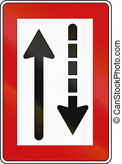 German inland water navigation sign - Pass oncoming vessels ...