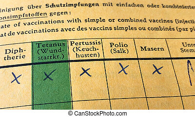 German international certificate of vaccination with ...