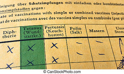 German international certificate of vaccination with missing...