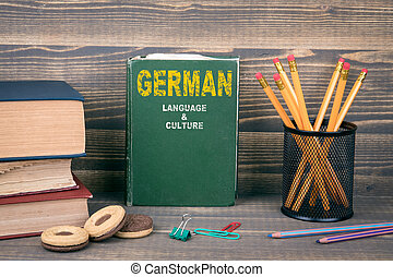 German language and culture concept