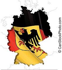 German Map-Flag