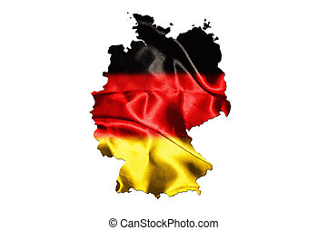 German Map with national flag