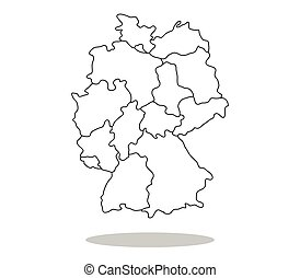 German map with regions