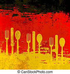 German Menu Vector template over a flag of Germany