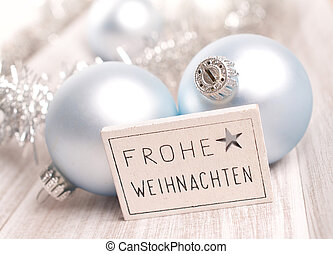 German Merry Christmas background
