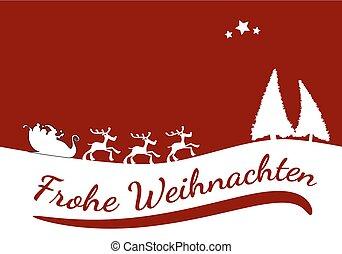 German Merry Christmas card
