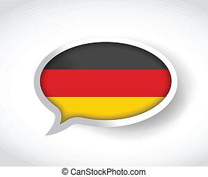german message bubble. illustration