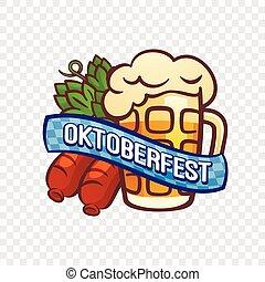 German oktoberfest logo, cartoon style