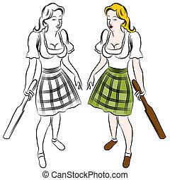 German Paddle Girl - An image of a german paddle girl.
