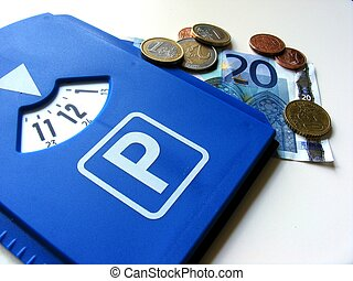 German parking permit- Parkscheibe - A plastic parking...