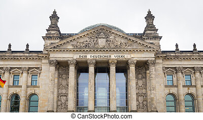 German parliament, Reichstag building in Berlin, Germany -...