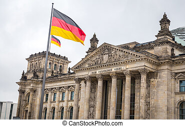 German parliament, Reichstag building in Berlin, Germany