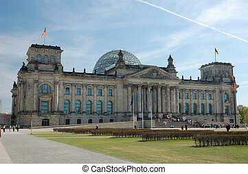 German Parliament Building, the Reichstag, in Berlin