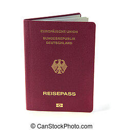 German passport isolated - A typical modern german passport...
