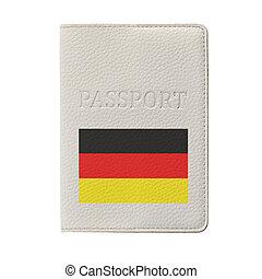 German passport isolated on white background. Travel ...