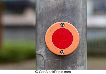 german pedestrian walk traffic lights switch