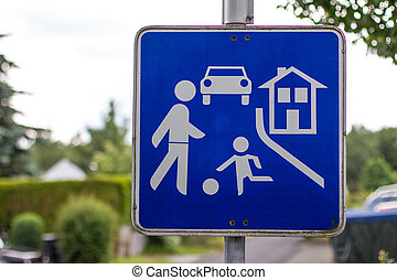 german play street sign