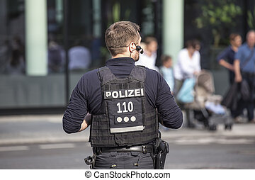 german police officer on duty
