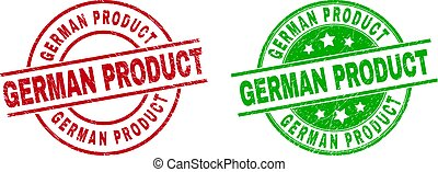 GERMAN PRODUCT Round Stamp Seals with Rubber Surface