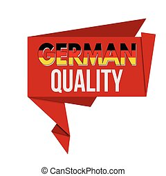 German quality origami speech bubble