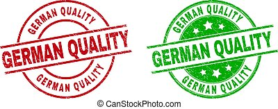GERMAN QUALITY Round Badges with Grunged Surface