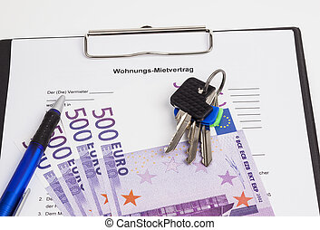 German rental agreement - The image shows a rental...