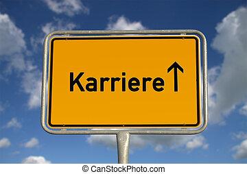 German road sign career