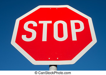 stop and give way - German road sign: stop and give way