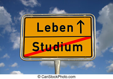 German road sign study and life