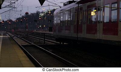German S-Bahn - Departing german suburban train (S-Bahn) at...
