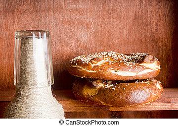 German salty pretzel