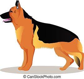 German shepherd cartoon dog