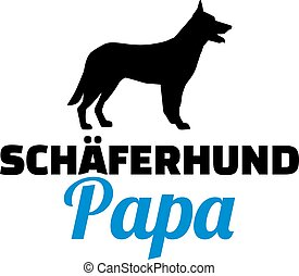 German Shepherd dad german - German Shepherd dad silhouette...