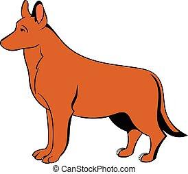 German Shepherd dog icon cartoon