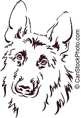 German Shepherd vector illustration