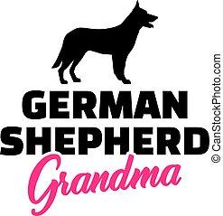 German Shepherd Grandma pink - German Shepherd Grandma...