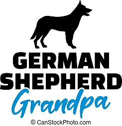 German Shepherd Grandpa blue - German Shepherd Grandpa...