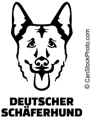 German Shepherd head german - German Shepherd head with...