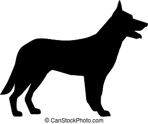 German Shepherd silhouette black
