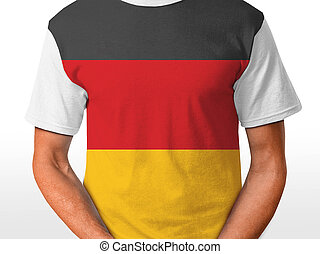 german t-shirt isolated on white