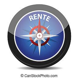 "german text ""Rente"", translate for pension illustration ..."