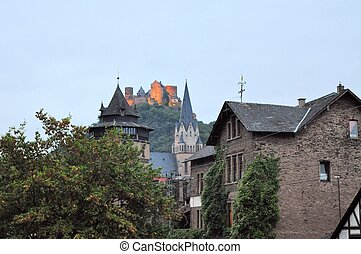 German town St. Goarshausen on the Rhine