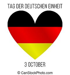 Vector illustration with colors of German flag