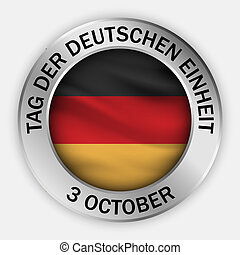 German unity day concept background, realistic style