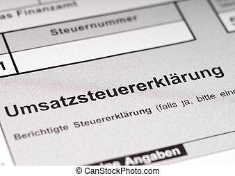 VAT return - german VAT return form