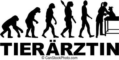german., veterinario, evolution., femmina